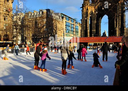 Christmas ice rink - Princes Street Gardens, Edinburgh, Scotland