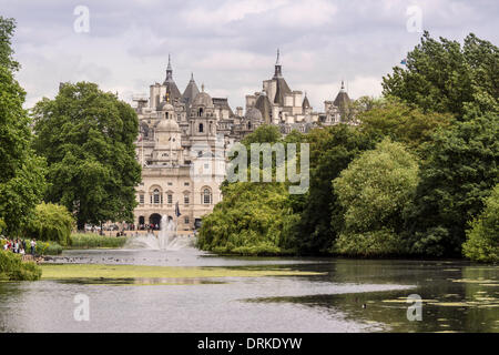 St James Park, rear, Household Cavalry Museum, England, United Kingdom, Europe - 2013. - Stock Photo