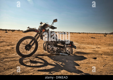 Wasteland Weekend in the Mojave Desert, near California City, California, in 2012, post apocalyptic Mad Max party - Stock Photo