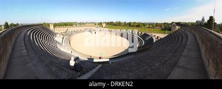 The Archaeological Park Xanten (APX), t is an outdoor museum with reconstructed Roman buildings Colonia Ulpia Traiana, - Stock Photo