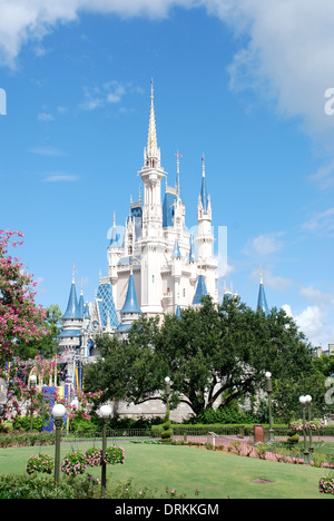 Cinderella's Castle, Fantasyland, Magic Kingdom, Walt Disney World Resort, Orlando, Florida, USA. - Stock Photo