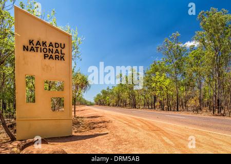Entrance gate to Kakadu National Park, Northern Territory, Australia - Stock Photo