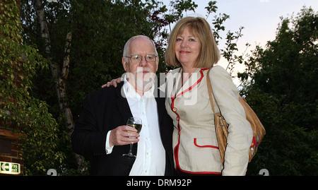 British artist Sir Peter Blake with his wife Chrissy Blake in London - Stock Photo