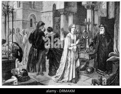St. Bartholomew's Day massacre  . The Protestant Lady - Stock Photo