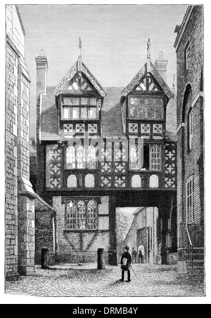 English House of the 17th century - Stock Photo