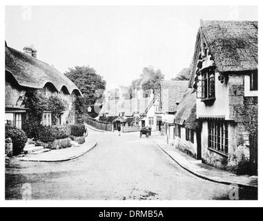 Old Town Shanklin village, Isle of Wight Photographed Circa 1910 - Stock Photo