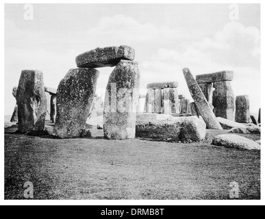 Stonehenge  prehistoric monument in Wiltshire  Photographed Circa 1910 - Stock Photo