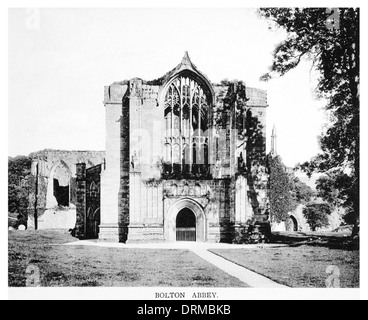 Bolton Abbey Wharfedale in North Yorkshire Photographed Circa 1910 - Stock Photo