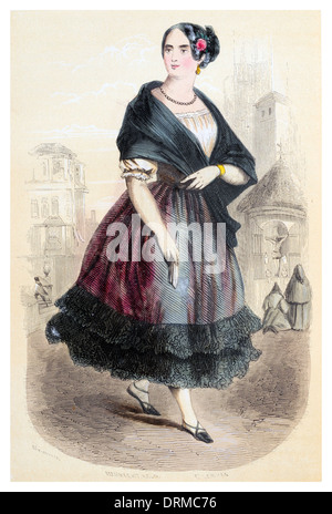Manola maja manolo or manola is a woman from the lower classes of Spanish society, especially in Madrid,  Spain - Stock Photo
