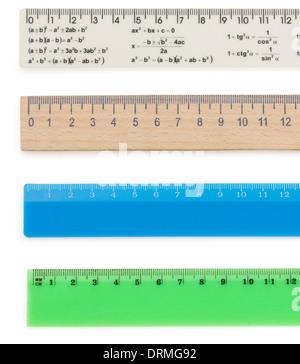 ruler isolated on white background - Stock Photo