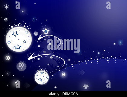 Blue cristmas abstraction - Stock Photo