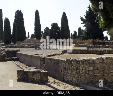 Spain. Italica. Roman city founded c. 206 BC. Andalusia. - Stock Photo