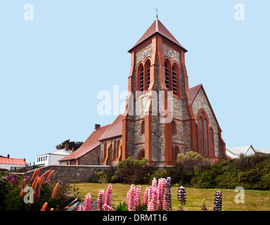 Christ Church Cathedral, Stanley, Falkland Islands - Stock Photo
