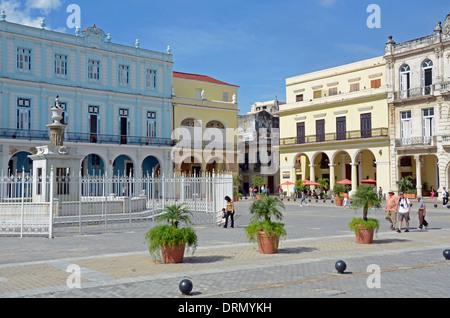 Plaza Vieja, Old Town, Havana, Cuba - Stock Photo
