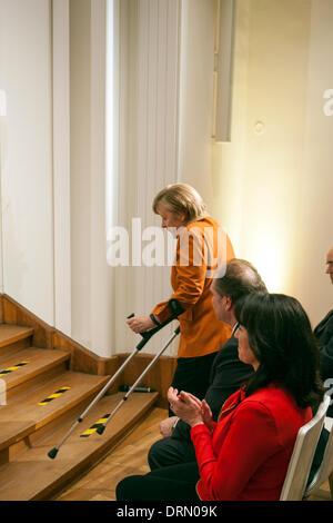 Berlin, Germany. January 29th 2014. German Chancellor Angela Merkel (CDU) gave a speech at the inaugural ceremony - Stock Photo
