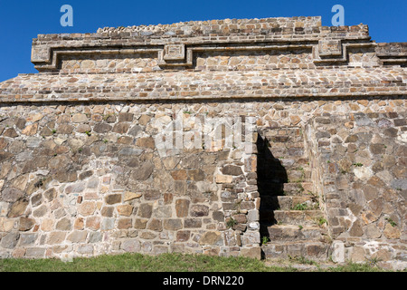 Monte Alban. Zapotec Art. Temple of the dancers - Stock Photo
