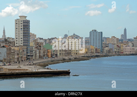 View of the harbour, Havana, Cuba - Stock Photo