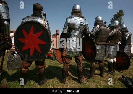 1410 Battle of Grunwald. The 599th anniversary of the Battle of Grunwald in Northern Poland. - Stock Photo