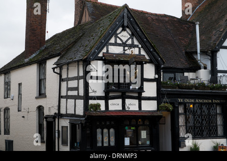 17th Century Public House in Upton upon Severn , Worcestershire, uk - Stock Photo