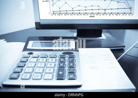 check the accounting data - Stock Photo