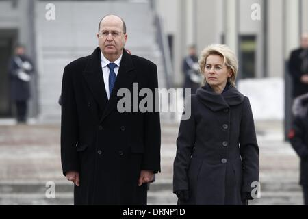 Berlin, Germany. 30th Jan, 2014. Ursula von der Leyen (CDU), Minister of Defence, receives the Israeli Secretary - Stock Photo