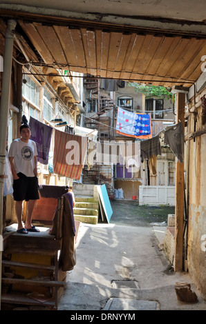 Typical yard in old town, Tbilisi, Georgia - Aug 2013 - Stock Photo