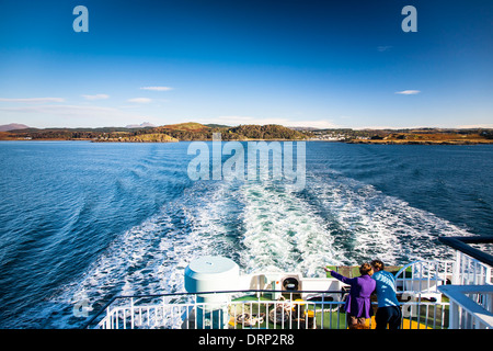 Caledonian Macbrayne ferry from Oban to Craignure on the Isle of Mull, Highlands, Scotland UK 2013 - Stock Photo