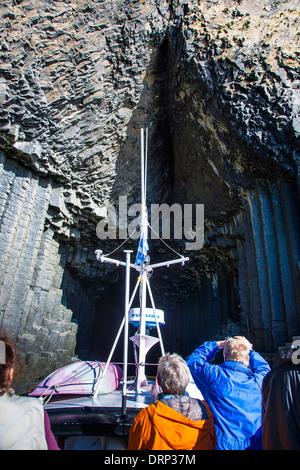 Isle of Staffa, Fingal's cave. Highlands Scotland UK 2013 - Stock Photo