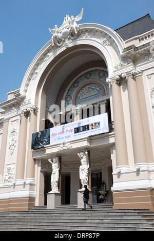 The Opera House or Municipal Theatre Ho Chi Minh City - Stock Photo