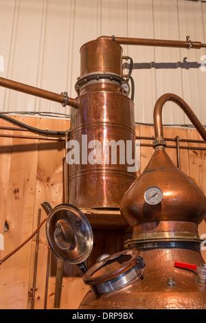 Alcohol micro distillery - Stock Photo