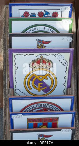 Logo Of Spanish Football Team Real Madrid Stock Photo
