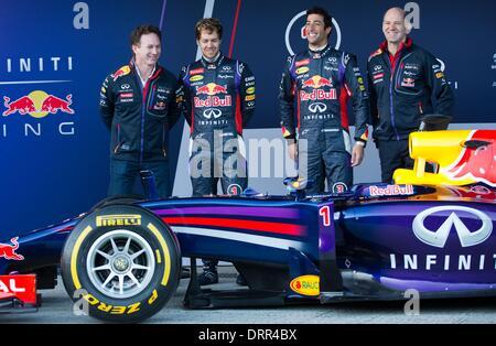Jerez de la Frontera, Southern Spain. 28th Jan, 2014. The chief technical director of Red Bull, British Adrian Newey - Stock Photo