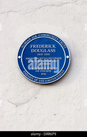 Frederick Douglass Blue Plaque, London - Stock Photo
