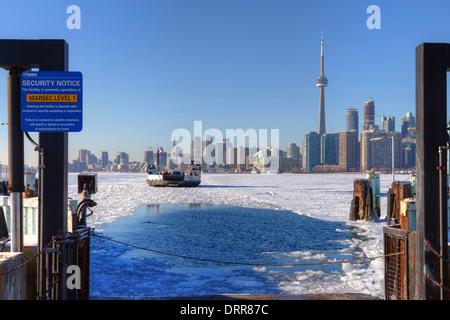 Toronto Island ferry, Toronto, Ontario, Canada - Stock Photo