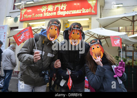 London UK, 31th January 2014: My Asian Planet live on BBC World New boardcast the celebration Chinese new Year of - Stock Photo