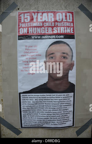 London UK, 31th January 2014 : 29th Inminds Protest G4S Complicity in Torture. Protesters demand to free the five - Stock Photo