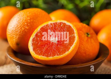 Healthy Organic Ripe Blood Orange on a Background - Stock Photo