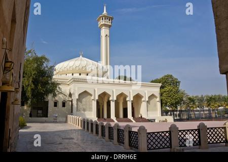Mosque in Bastakia Quarter of Old Dubai, United Arab Emirates - Stock Photo