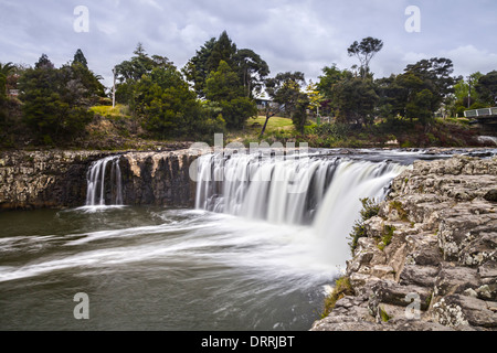 Haruru Falls on the Waitangi River in the Bay of Islands, Northland, New Zealand. - Stock Photo
