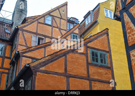 Half timbered house in the old part of Copenhagen, Denmark - Stock Photo