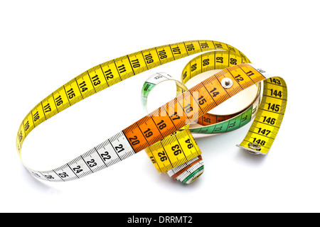Colorful tape measure - Stock Photo