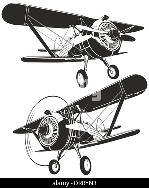 Silhouette Of Biplane Stock Photo Royalty Free Image 55701808