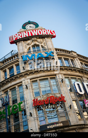 Manchester Printworks entertainment complex on Withy Grove in Manchester - Stock Photo