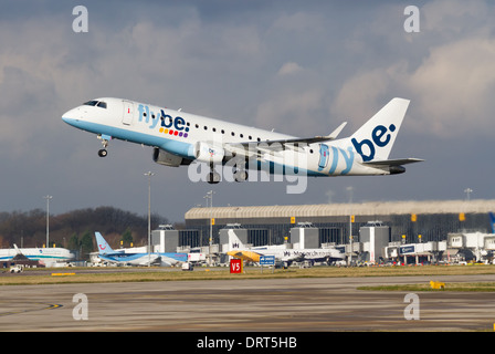 Flybe Embraer ERJ170-200STD G-FBJH taking off from Manchester Airport - Stock Photo