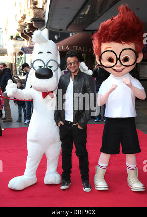 London, UK, 1st February 2014 Peter Andre arrives for the VIP Gala screening of 'Mr Peabody & Sherman 3D' at Vue - Stock Photo