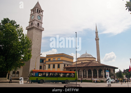 Ethem Bey Mosque, Tirana, Albania - Stock Photo