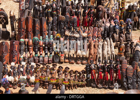 Local Handicrafts For Sale, The Thursday Market At Key Afar, Omo Valley, Ethiopia - Stock Photo
