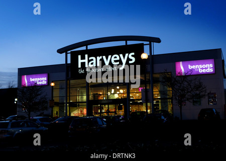 Harveys The Furniture Store And Bensons For Beds Retail Superstore At Stock Photo Royalty Free