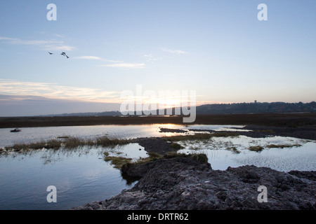 Sea defence damage at Blakeney in North Norfolk, East Anglia, UK, following the storm Surge in December 2013 - Stock Photo