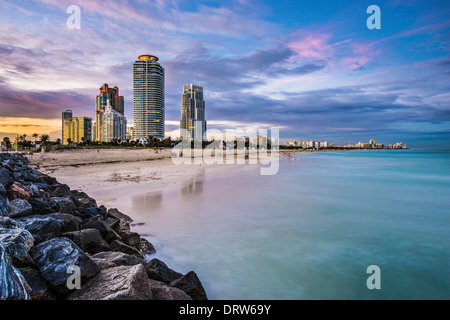 Miami, Florida at South Beach. - Stock Photo